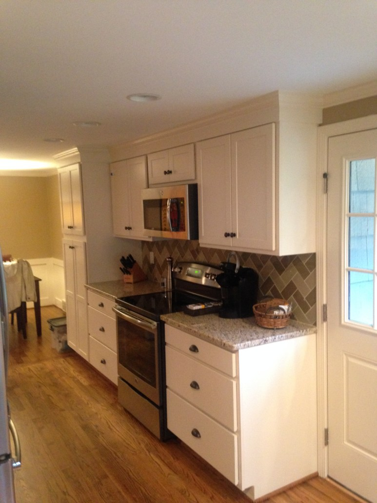 Blaurock Construction Galley Kitchen Cabinet Installation